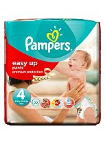Pampers Easy Up Pants Size 4 Carry Pack - 1 x 22 Pants