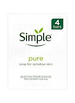 Simple Pure Soap Bar for Sensitive Skin 4 x 125g