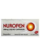 Nurofen Liquid Capsules Ibuprofen 200mg - 10 Capsules