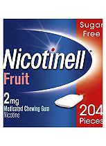 Nicotinell Fruit 2mg Chewing Gum - 204 Pieces