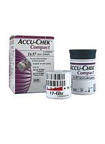 Accu-Chek Compact Blood Glucose Test Strips 17's 1 Drum