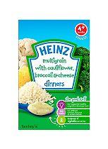 Heinz 4+ Months Multigrain with Cauliflower, Broccoli & Cheese Dinners 125g