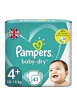 Pampers Baby-Dry Nappies Size 4+ Essential Pack - 1 x 41 Nappies