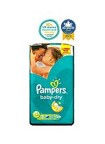 Pampers Baby-Dry Nappies Size 4 Large Bag - 62 Nappies
