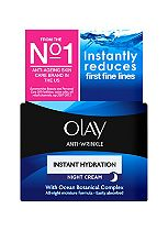 Olay Anti-Wrinkle Instant Hydration Night Cream Age 30+ 50ml