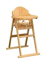 East Coast Folding Wooden High Chair - Natural Finish