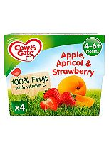 Cow & Gate Apple, Apricot & Strawberry Fruit Pots 4x100g