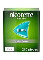 Nicorette Original Flavour Sugar Free Gum 2mg - 210 Pieces