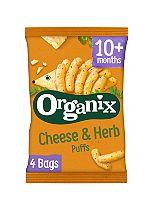 Organix Goodies Organic Cheese & Herb Puffs 4 x 15g
