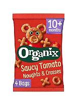 Organix Goodies Organic Saucy Tomato Noughts & Crosses 4 x 15g