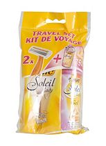 Bic Soleil Travel Set 2 Disposable Razors & Gel 75ml