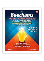 Beechams Ultra All In One Hot Lemon Menthol Powder for Oral Solution Paracetamol, Guaifenesin, Phenylephrine Hydrochloride