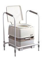 Homecraft Portable Toilet Porta-Potty - Manual Flush