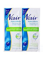 Nair Sensitive Hair Removal Cream Sachet 30ml