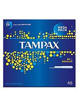 Tampax Cardboard Applicator Regular 48 Tampons