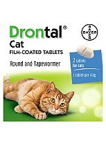 Drontal Cat Film-coated Tablets - 2 Tablets
