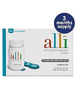 alli 60mg hard capsules - 3 months supply