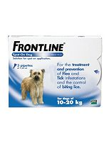 Frontline Spot On Dog for dogs of 10-20kg - 3 Pipettes