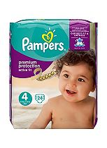 Pampers Premium Protection Active Fit Size 4 Carry Pack - 24 Nappies