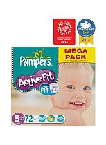 Pampers Active Fit Nappies Size 5 Mega Box - 72 Nappies