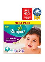 Pampers Active Fit Nappies Size 4 Mega Box - 76 Nappies