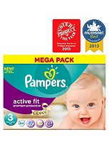 Pampers Active Fit Nappies Size 3 Mega Box - 84 Nappies