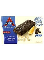 Atkins Advantage Orange & Chocolate Bars with sweeteners - 16 x 60 g