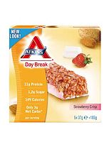 Atkins Day Break Strawberry Bars with sweetener - 5 x 37 g