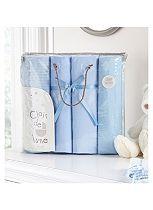 Clair de Lune 4 Piece Cot Bed Bale - Blue