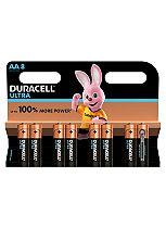 Duracell Ultra Power AA Alkaline Batteries - 8x pack