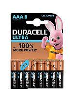 Duracell Ultra AAA Alkaline Batteries - 8x Pack