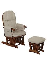 Tutti Bambini Deluxe Reclinable Glider Chair & Stool - Beech Finish