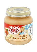Cow & Gate Apple & Banana Swirl from 4-6m Onwards 125g