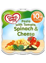 Cow & Gate Little Steamed Meals Pasta with Tomato, Spinach & Cheese 10m Onwards 230g