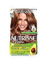 Garnier Nutrisse Crème Permanent Hair Colour 6.3 Caramel Light Brown