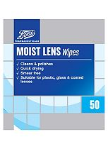 Boots Moist Lense Wipes - 50 wipes