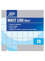 Boots Moist Lens Wipes  - 20 Pack