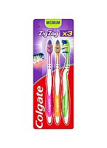 Colgate Zig Zag Medium Toothbrush Triple Pack