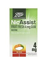 Boots Pharmaceuticals NicAssist Fruit Fresh 4mg Gum- 105 Pieces