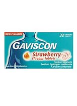 Gaviscon Strawberry Flavour tablets (32 chewable tablets)