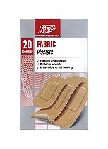 Boots Pharmaceuticals Fabric Plasters- 20 Assorted