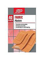 Boots Pharmaceuticals Fabric Plasters- Pack of 40 Assorted