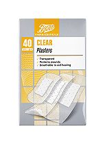 Boots Pharmaceuticals Clear Plasters- Pack of 40 Assorted