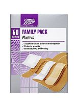 Boots Pharmaceuticals Family Pack Plasters- Pack of 60 Assorted