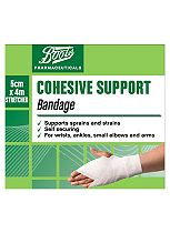 Boots Pharmaceuticals Cohesive Support Bandage (5cm x 4m)
