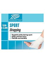 Boots Pharmaceuticals Sports Strapping 2.5m x 6cm