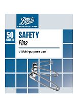 Boots Pharmaceuticals Safety Pins (50 Assorted)