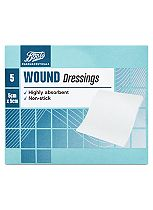 Boots Pharmaceuticals Wound Dressing Pads (5cm x 5cm)- Pack of 5