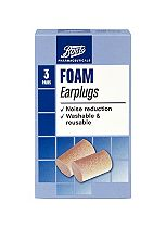 Boots Pharmaceuticals Foam Earplugs (3 Pairs with Carry Case)