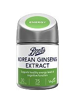 Boots  Korean Ginseng 75mg (30 Tablets)